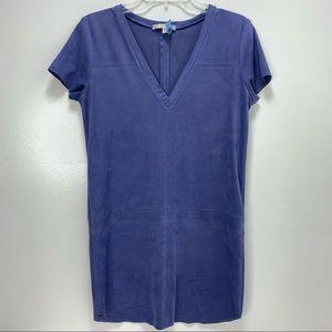 Lavender Brown faux suede dress